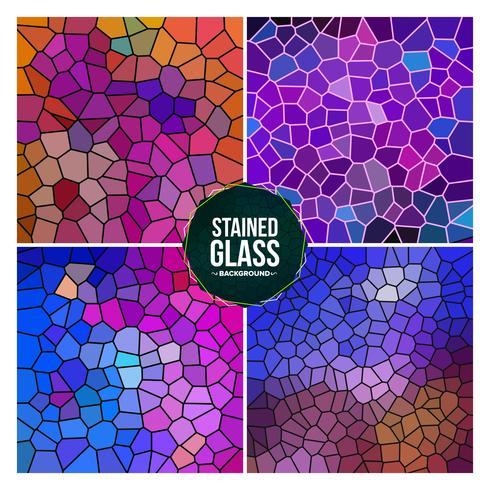 Ensemble de fond multicolore vitrail cassé