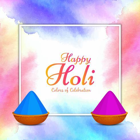 Astratto colorato felice Holi saluto sfondo design