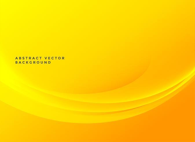 sfondo ondulato elegante giallo brillante