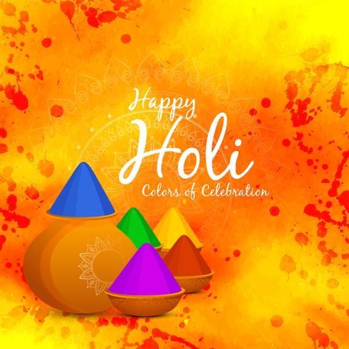 Fondo abstracto feliz celebración de Holi