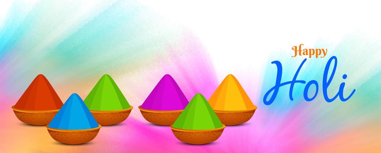 Sjabloon voor abstract Happy Holi-spandoek