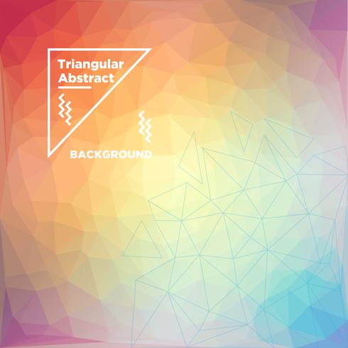 Triangular Polygonal Background vector