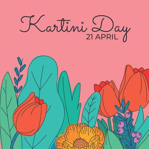 Comemorando o dia de Kartini com flores