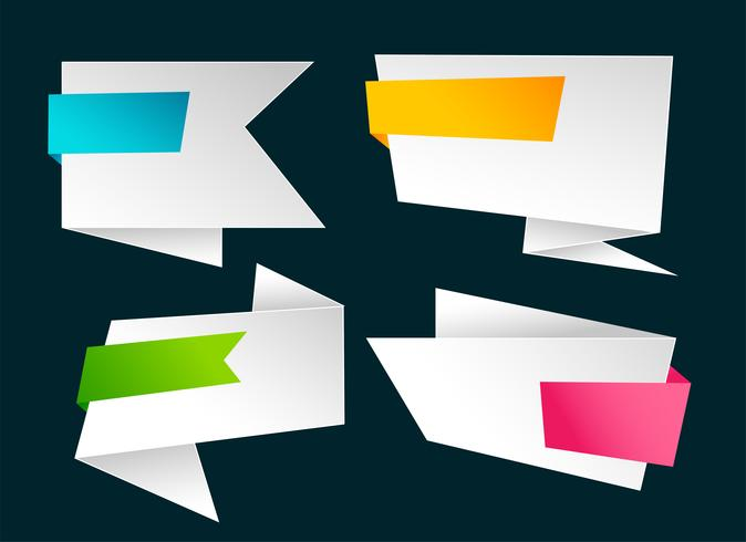 tom blank uppsättning origami banners