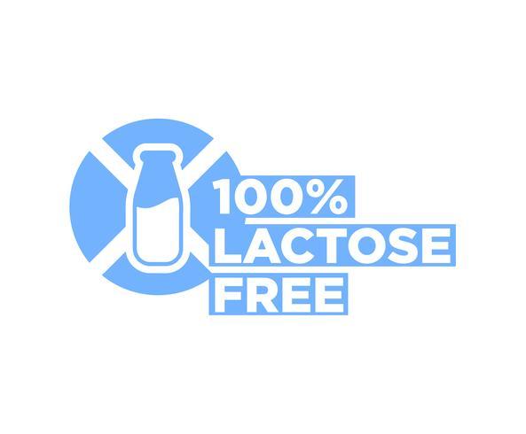 Lactose-vrij vector pictogram.