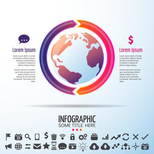 World Map Infographics Design Template