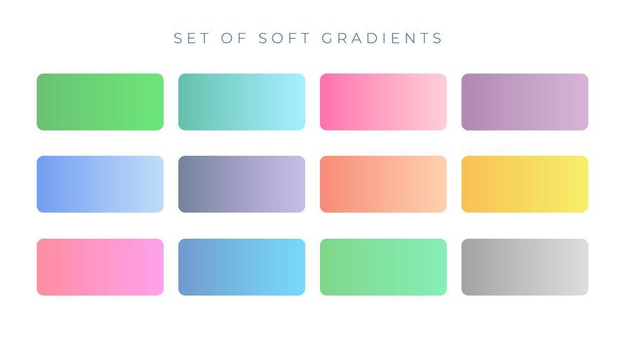 échantillons de dégradés de couleurs douces et élégantes