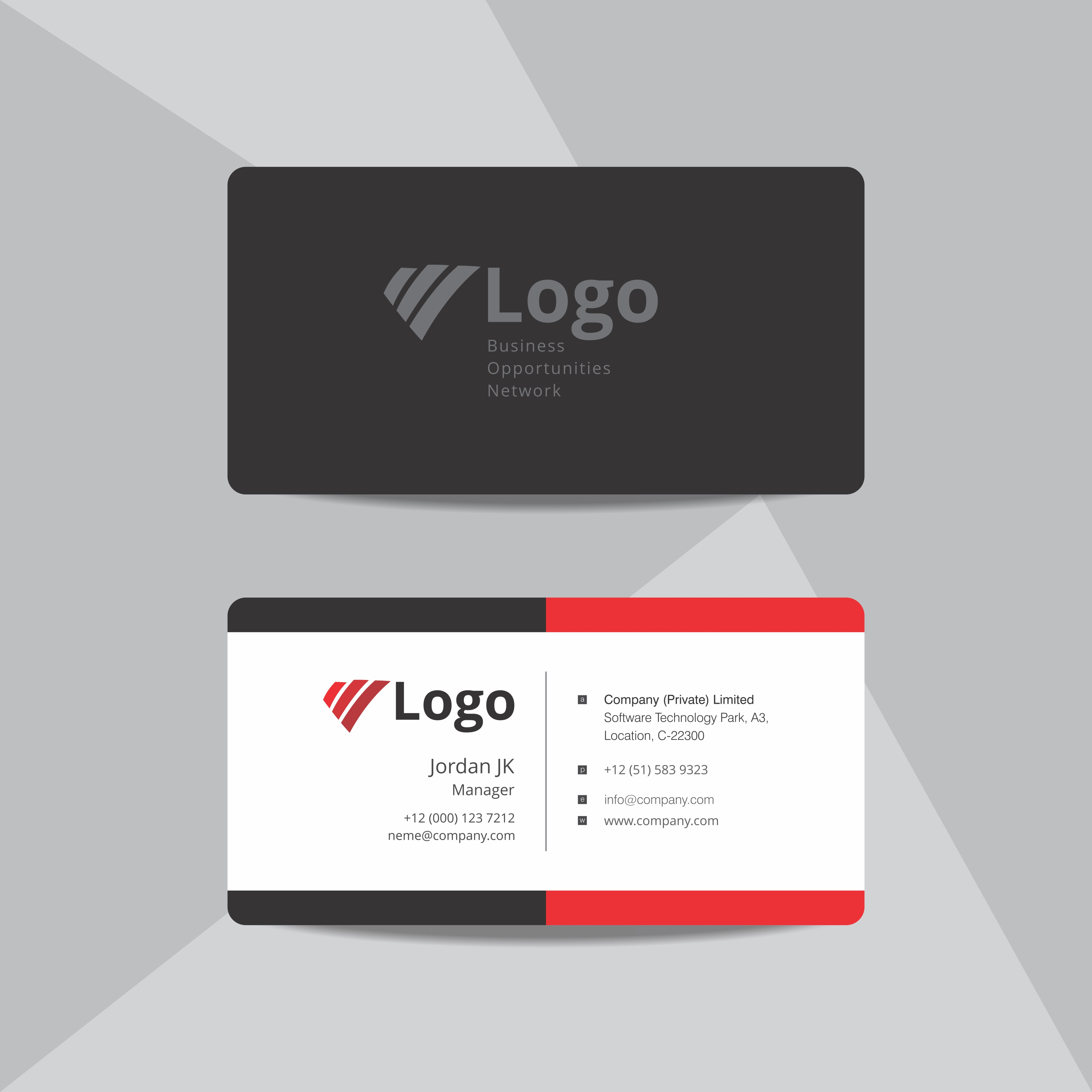 professional business card design template 343770 vector