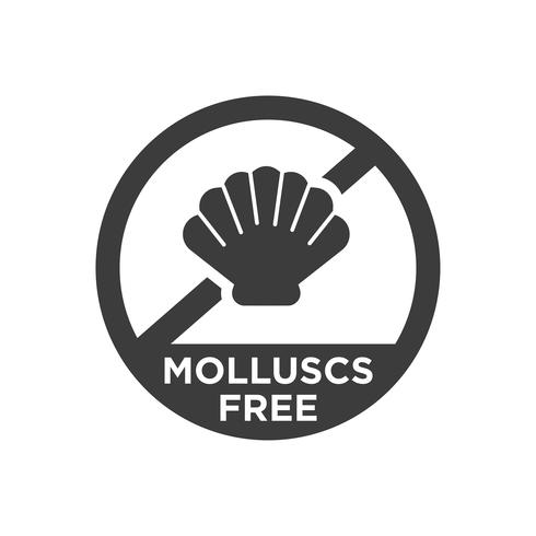 Mollusc free icon.  vector