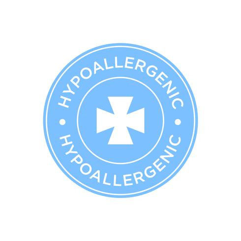Icona blu ipoallergenica vettore