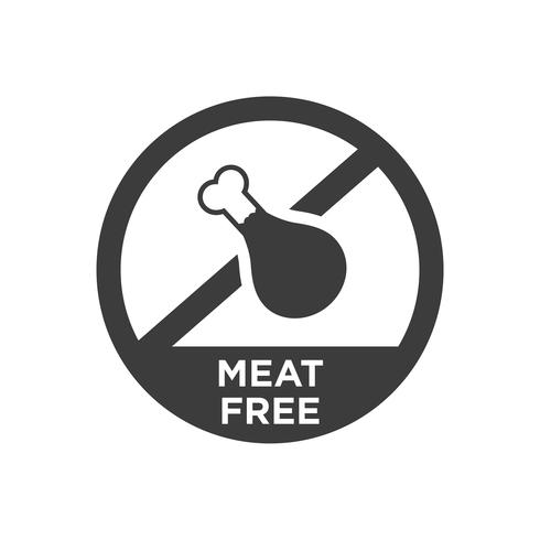 Meat free icon.