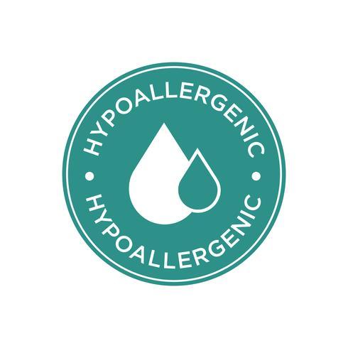 Hypoallergenes grünes Symbol