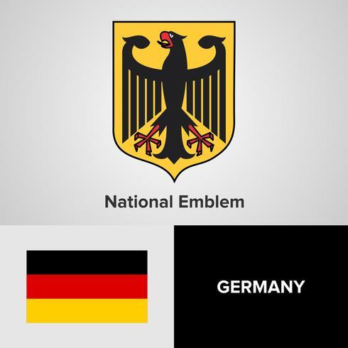 Duitsland nationaal embleem, kaart en vlag