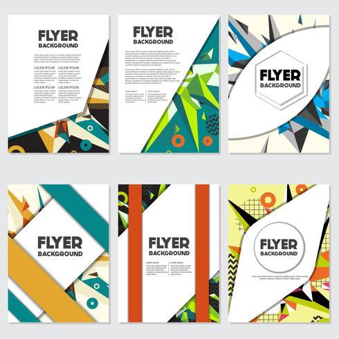 Low Poly Flyer style background diseño plantilla