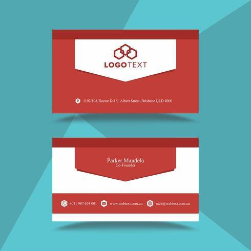 Modello di progettazione professionale biglietto da visita