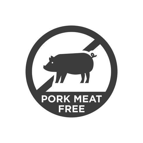 Schweinefleisch frei Symbol.