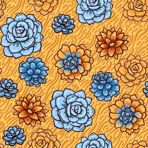 Trend av succulents mönster