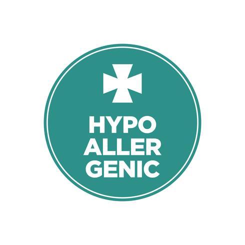 Icône verte hypoallergénique