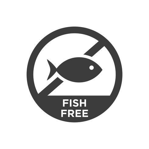 Fish free icon.  vector
