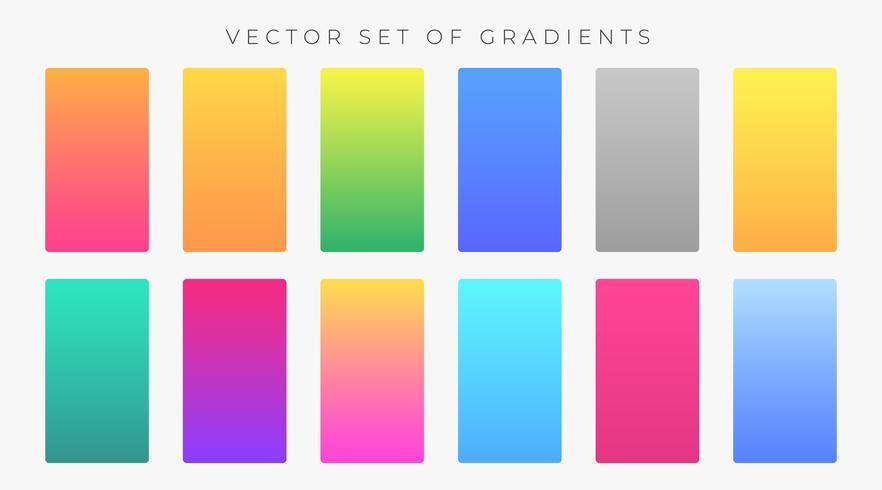vibrerande färgstarka gradienter