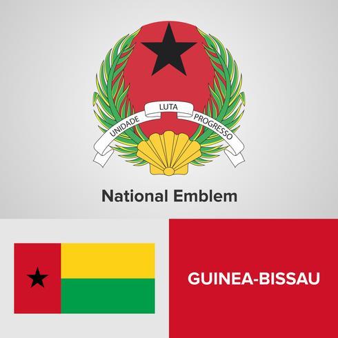 Guinée-Bissau Emblème national, carte et drapeau