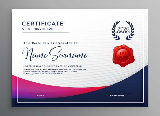 company certificate template elegant design