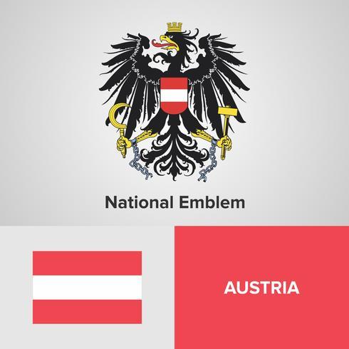 Oostenrijks nationaal embleem, kaart en vlag