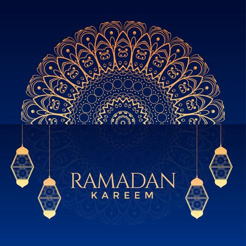 Ramadán kareem ornamental fondo decorativo