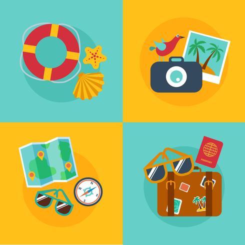 Conceitos e banners de viagens, verão