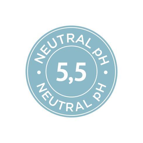 Neutral pH icon vector