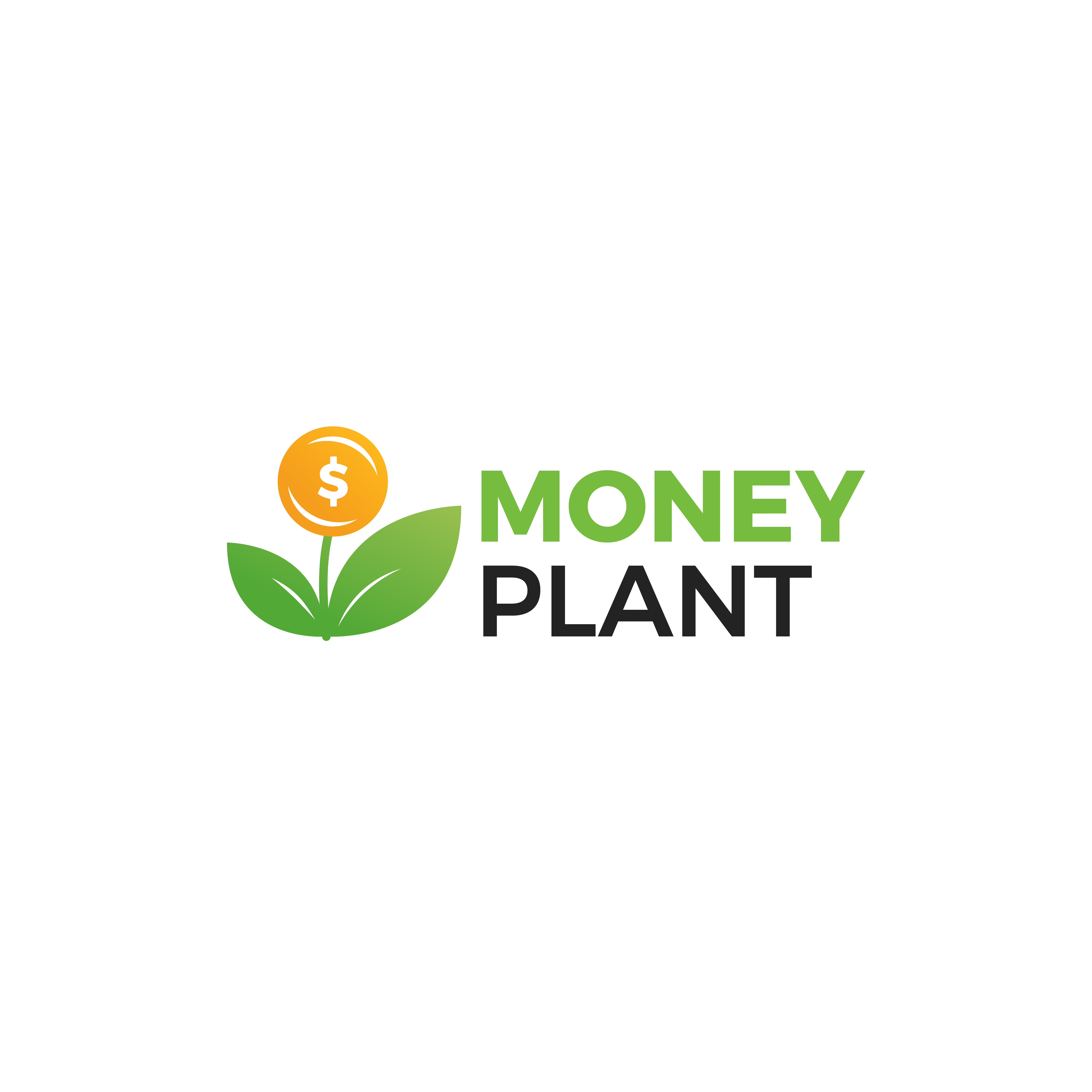 Money Plant Logo Growth Of Investments And Investments
