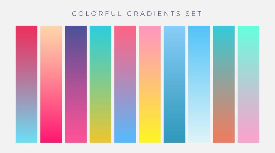 ensemble coloré de dégradés vibrants