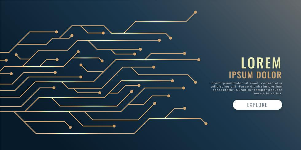 circuit lines diagram technology banner