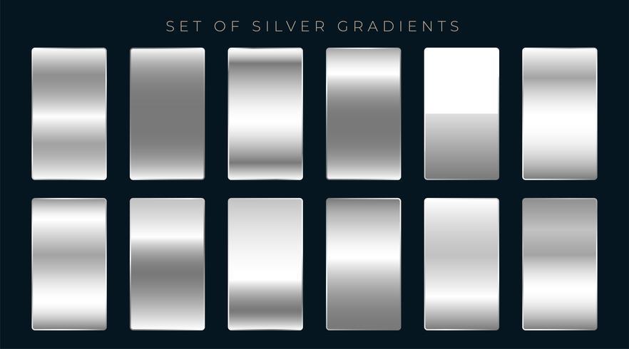 uppsättning silver eller platina gradienter