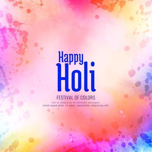 Resumen feliz Holi festival saludo fondo