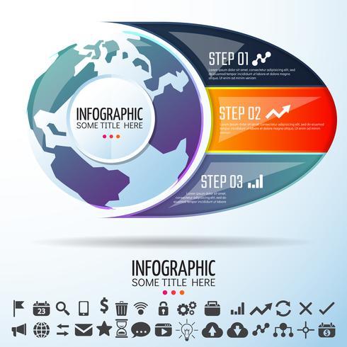 World Map Infographics Design Mall