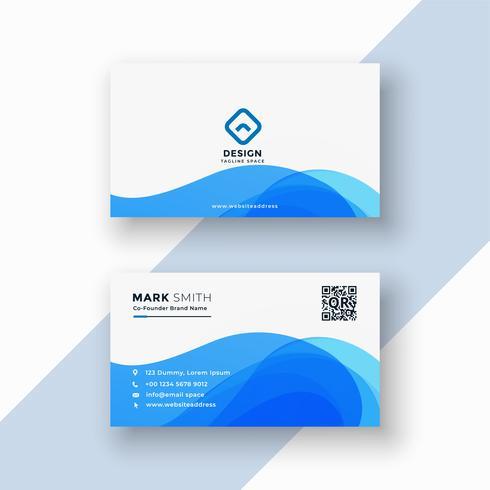 tarjeta de visita elegante azul abstracta