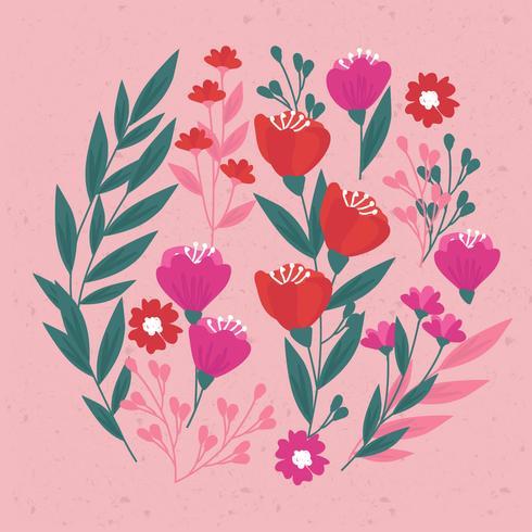 Vector dibujado a mano elementos florales