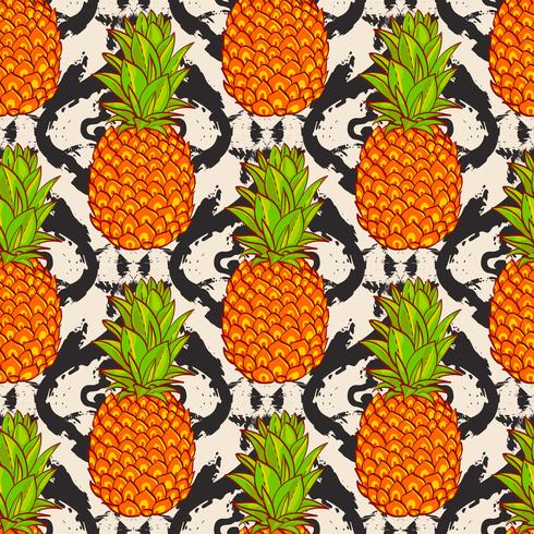 Tropisk Ananas Bakgrund