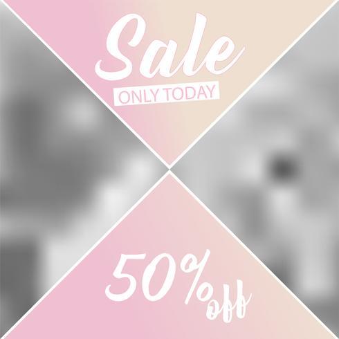 Plantilla de banner de redes sociales para tu blog o negocio. Diseños lindos del rosa en colores pastel para la foto. Conjunto plana vector
