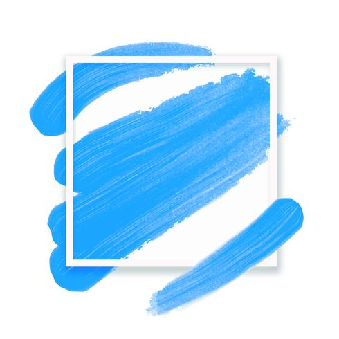 Frame voor tekst. Abstracte lichtblauwe achtergrond met imitatie olieverfschilderijborstel. Vector illustratie