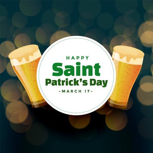 Fondo del día de San Patricio con jarras de cerveza