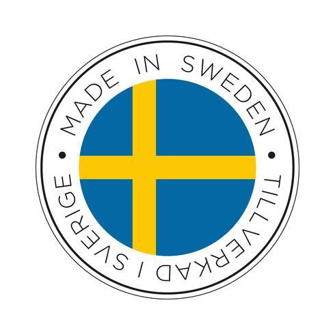 Hecho en el icono de la bandera de Suecia.