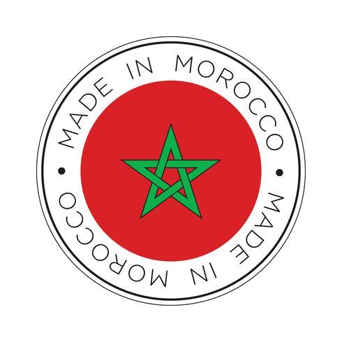 realizzato nell'icona della bandiera del Marocco.