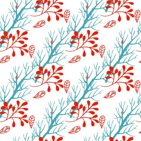 Floral Christmas Background.