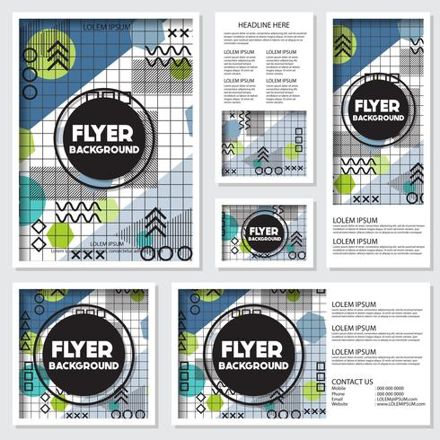memphis background style Design Template