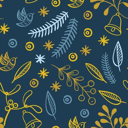 Retro handgjorda vinterhelger sömlösa mönster vektor