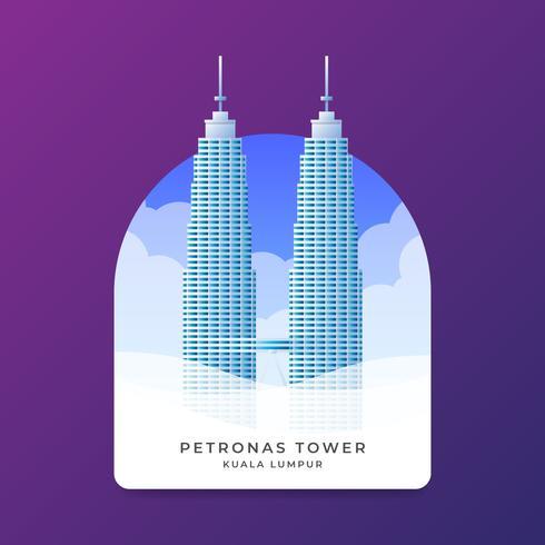 Petronas Towers Landmark Creatieve achtergrondmalplaatje