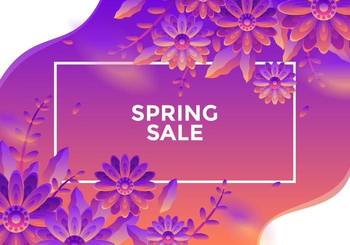 Vecteur de fond de vente de printemps