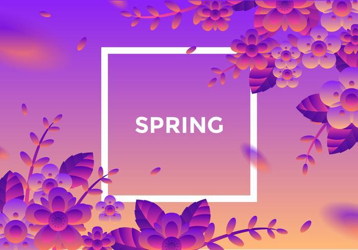 Vecteur de fond de printemps